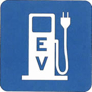 Just look for this sign to find the electric car chargers